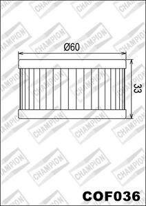 COF036 Filtro Olio CHAMPION Suzuki DR250 S-L,M,N,P,ER,ES