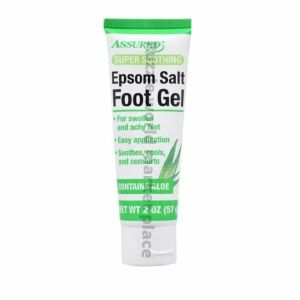 Assured Super Soothing Epsom Salt Foot Gel 2 oz Tube