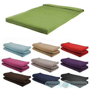 Image Is Loading Fabric Double Size Futon Mattress Folding Foam Filled