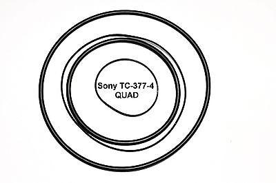 COURROIES SET SONY TC-377-4 QUAD MAGNETOPHONE A BANDE