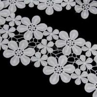 3Yds White Crochet Flower Lace Trimmings Ribbon Wedding ...