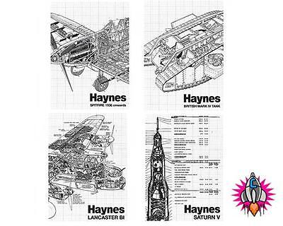 HAYNES MANUAL CLASSIC TRANSPORTATION SET OF 4 METAL FRIDGE