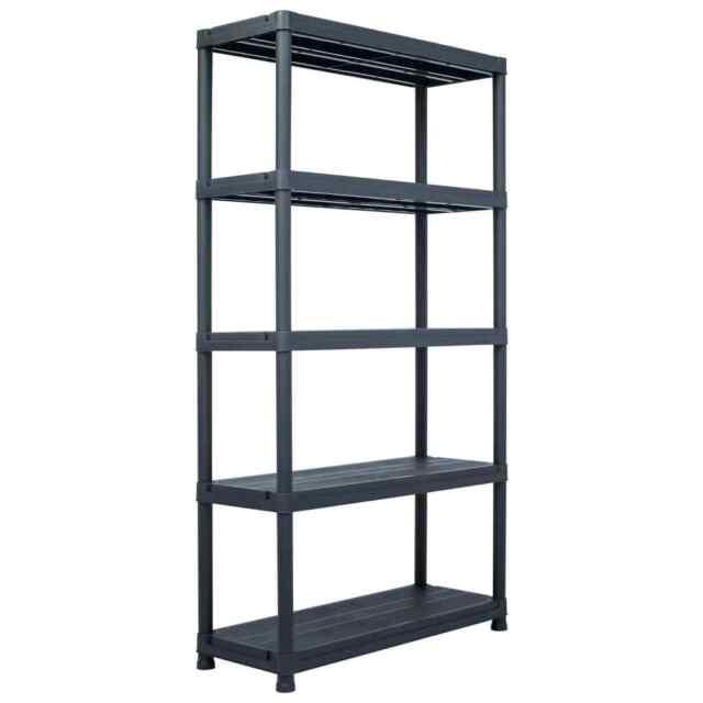 vidaxl etagere de rangement noir 250 kg 80x40x180 cm plastique atelier garage