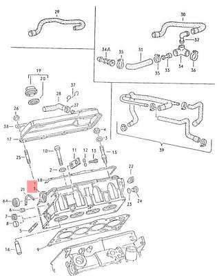 Genuine Volkswagen Cylinder Head NOS Jetta 16 19 1G 1G1