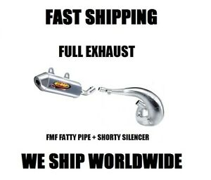 FULL FMF FATTY PIPE EXHAUST + SHORTY SILENCER 02 03 04