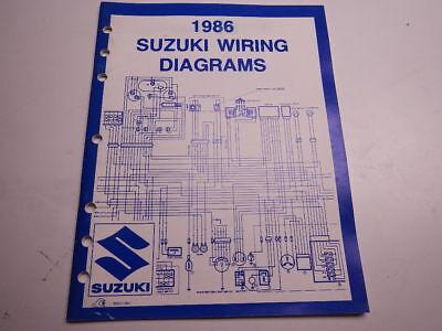 1986 suzuki wiring diagrams sp dr gs ls vs gsx gv lt 50 125 200 100 450 550  86  ebay