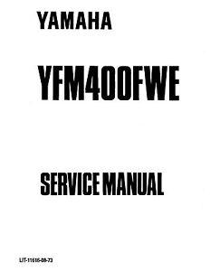 Yamaha ATV service workshop manual 1993 Yamaha Kodiak 400
