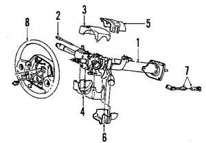 Dodge CHRYSLER OEM 01-02 Ram 3500 Steering Column-Lower