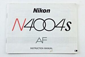 190749 Nikon N4004s AF Genuine Original User Instruction
