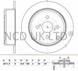 JURATEK REAR BRAKE DISC FOR TOYOTA COROLLA 1.4 VVT-I