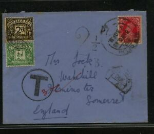 India cover to England postage due stamps MS0414   eBay