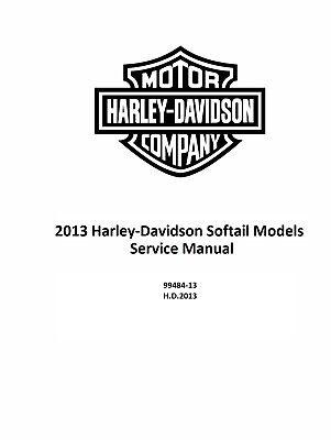2013 Harley Davidson Softail Models Service & Electrical