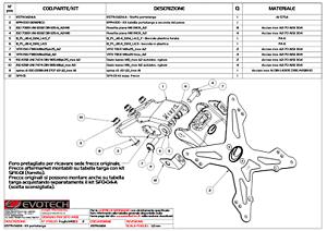 EVOTECH Portatarga + Luce Targa Led Omologata per Kawasaki