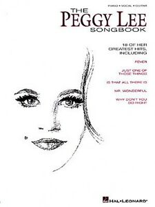 The Peggy Lee Songbook Sheet Music Piano Vocal Guitar