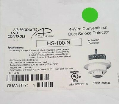 HS-100-N 4-Wire Conventional Duct Smoke Detector