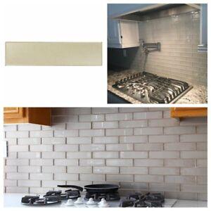 details about silver metallic glass subway tile for kitchen backsplash bathroom wall 3 x 12