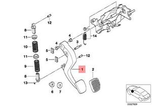 Genuine BMW 5 Series E39 Sedan Wagon Clutch Lever OEM