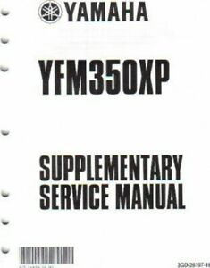 2004 Yamaha YFM350XS Warrior Manual Supplement : LIT-11616