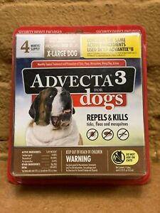 Advecta 3 For Dogs : advecta, Advecta, Dogs,, X-Large, Lbs.+,, Repels/Kills, Month, Supply, BRAND, 818145016844