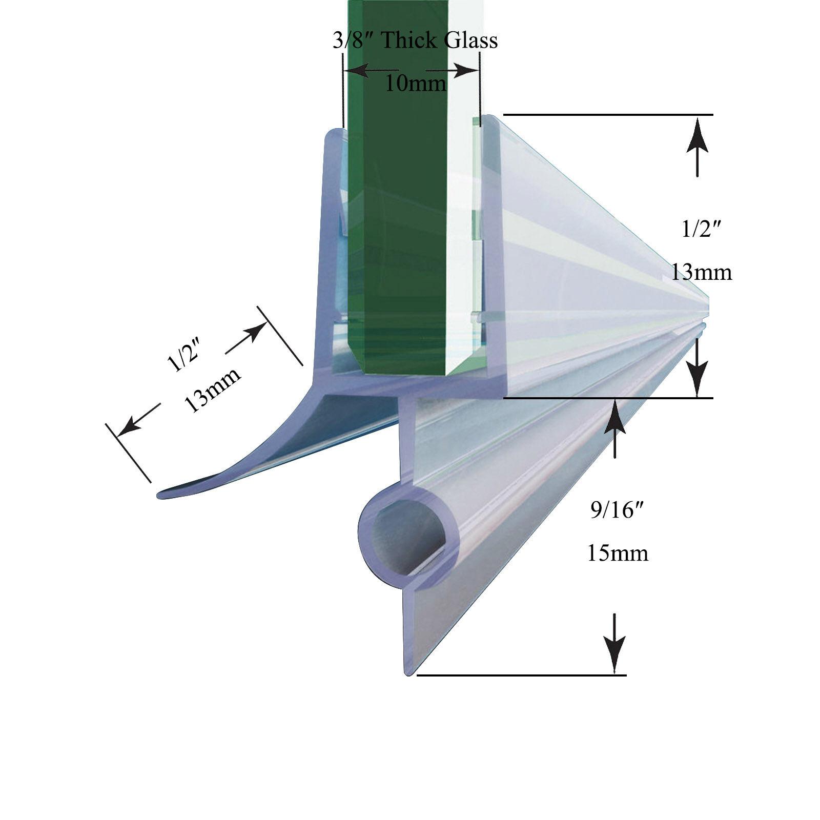 Sunny Shower Door Seal Strip For 3 8 Inch Glass Door Bottom Seal 36 In Length