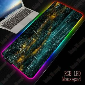 details sur tapis de souris xxl jeu video gaming eclairage led rgb gamer surface optimisee