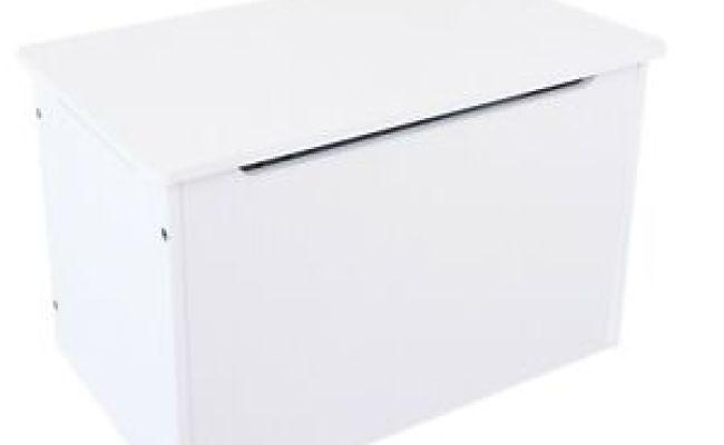 Kiddi Style Kids Childrens White Wooden Toy Box Storage