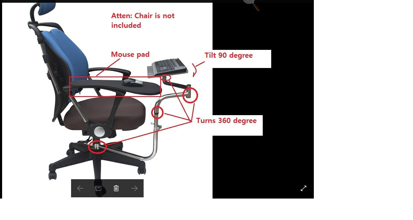 Keyboard Chair Details About Ergonomic Laptop Keyboard Mouse Stand Mount Holderfor Chair Office Black A