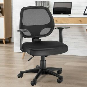 chair mesh stool low back lawn 9 adjustable office ergonomic seat swivel computer task image is loading