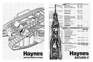 Haynes Manual Fridge Magnet Gift Retro Classic Saturn V