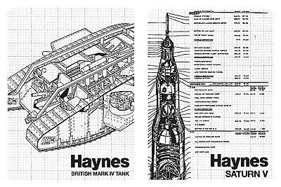 Haynes Manual Fridge Magnet Gift Retro Classic Saturn V