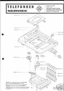 Telefunken Original Service Manual für studio 5031 Pho/Rec