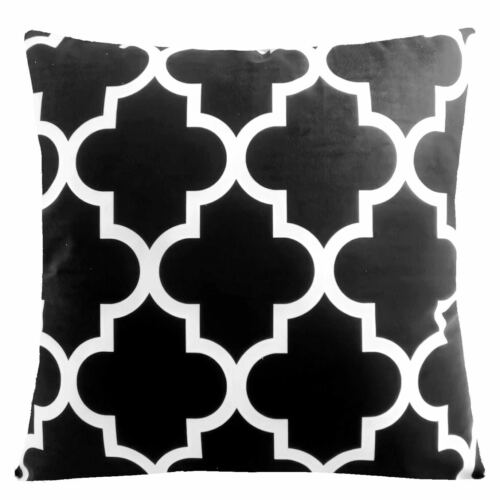 home garden 21x21 black white accent throw pillow cover sofa couch bed cushion case usa velvet square modern home decor pillows