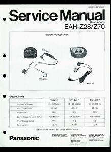 Technics/Panasonic EAH-Z28/Z70 Stereo Headphones Original