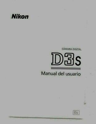 Nikon D3s Camera Instruction Manual User Guide SPANISH