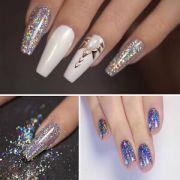 diy nail art chrome powder galaxy