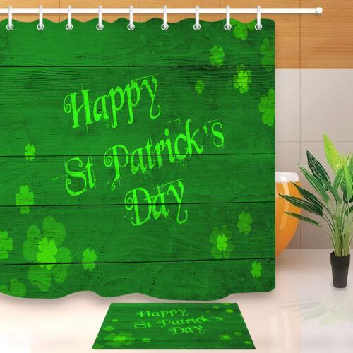 patricks day green clovers board waterproof fabric shower curtain hooks st bathroom supplies accessories shower curtains