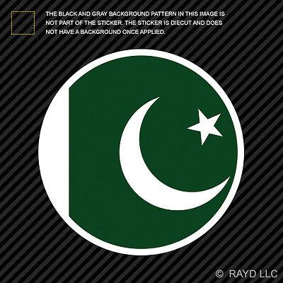 round pakistani flag sticker