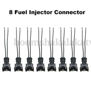 8 Fuel Injector Connector Wiring Plugs Clips Fit EV1 OBD1