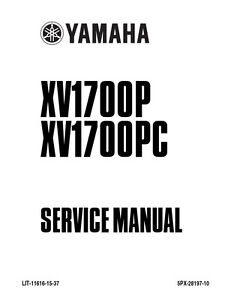 New Yamaha Roadstar XV1700 Repair Service Manual 2002 LIT