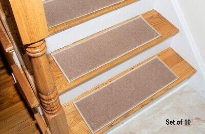 Stair Treads Set 10 Wood Floors Non Skid Slip Carpet Rugs Mats | Wood Floor Stair Treads | Brazilian Cherry | Stair Nosing | Oak Stair Risers | Vinyl Flooring | Carpet
