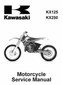 New Kawasaki KX 125 & KX 250, 1999 2000 2001 2002 Service