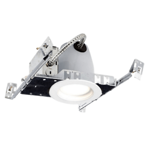 details about 4 inch led recessed new construction kit can light 10 watt baffle trim trim