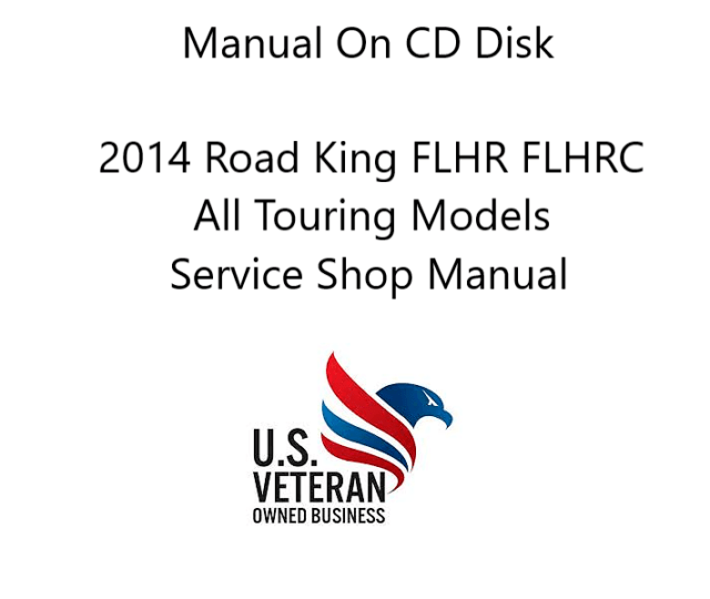 CD Service / Repair Manual For 2014 Harley Davidson Road