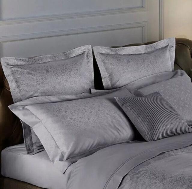 frette at home arabesque european euro pillow sham medium grey gray