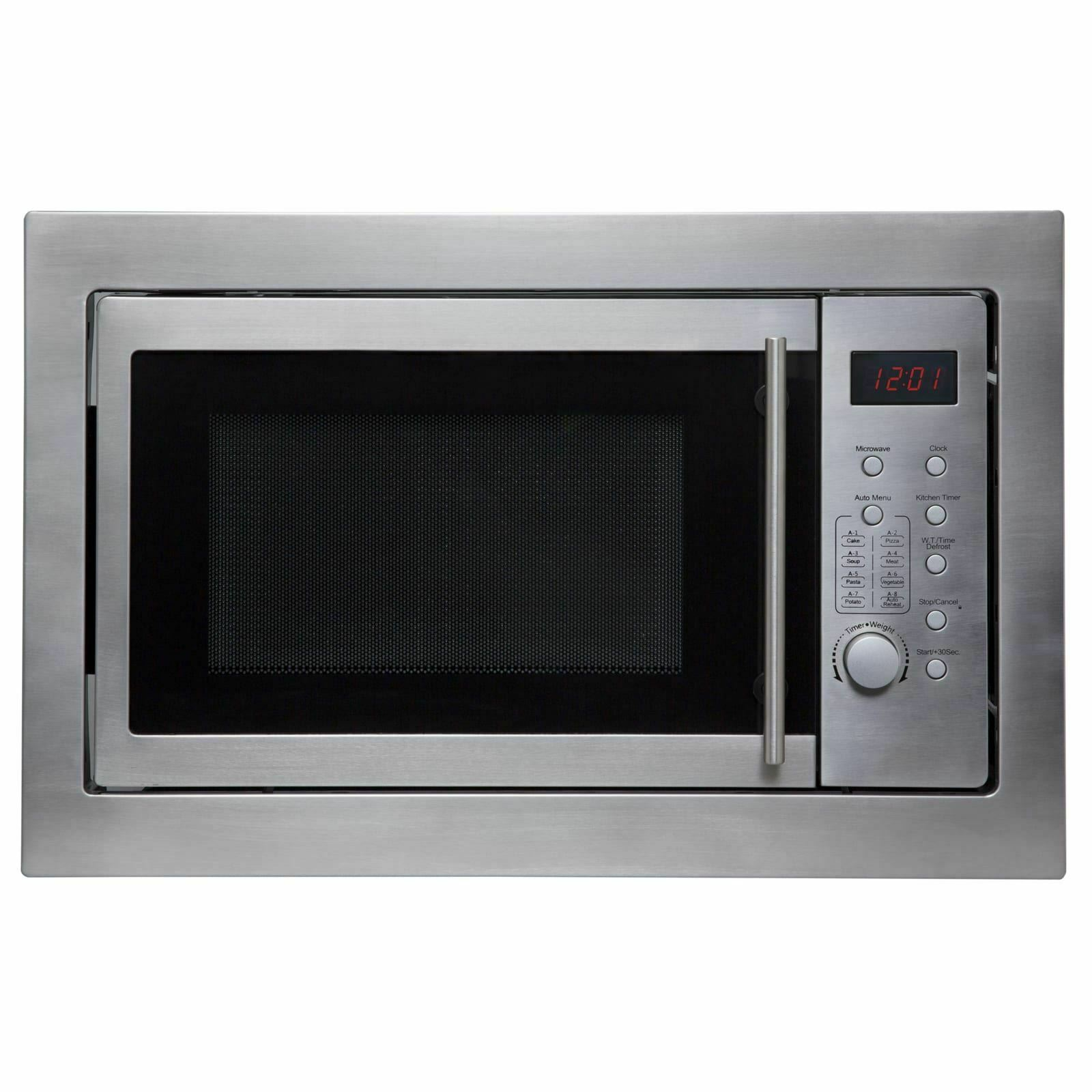 sia bim25ss stainless steel 25l 900w built in microwave oven