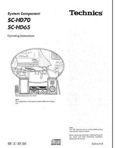 Technics SC-HD65 SC-HD70 ST-HD70 SE-HD70 SE-HD65 SL-HD70