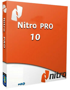 Nitro Pro 10 PDF Viewer, Creator, Editor, Converter for 5PC Instant Delivery