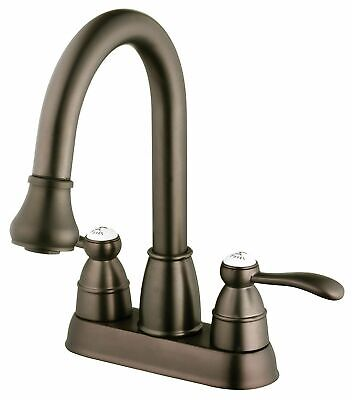 belle foret pull down spray laundry 4 center high arc faucet oil rubbed bronze 650053016017 ebay