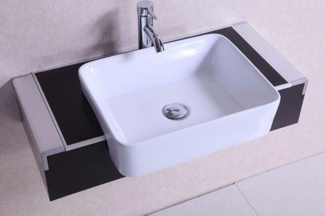 18 Inch Belvedere Modern Wall Mounted Espresso Bathroom Vanity With Sink For Sale Online Ebay