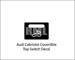 Audi A4 S4 B6 CABRIOLET CONVERTIBLE ROOF CONTROL BUTTON